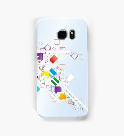 Connected Blocks Samsung Galaxy Case/Skin