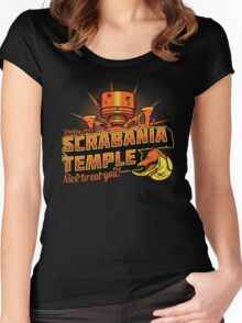 Greetings From Scrabania Temple Women's Fitted Scoop T-Shirt
