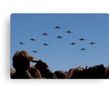 F 18 Jets Returning Home Canvas Print