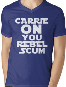 "RIP Carrie Fisher Princess Leia ""Carrie On"" Mens V-Neck T-Shirt"