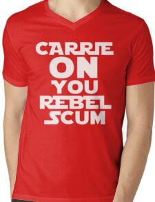 """RIP Carrie Fisher Princess Leia """"Carrie On"""" Mens V-Neck T-Shirt"""