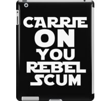 """RIP Carrie Fisher Princess Leia """"Carrie On"""" iPad Case/Skin"""