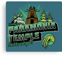 Greetings From Paramonia Temple Canvas Print