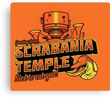 Greetings From Scrabania Temple Canvas Print