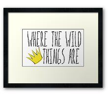 Where the Wild Things Are - Crown Title Cutout Framed Print