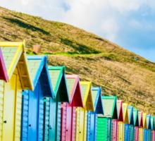 Colorful beach huts Sticker