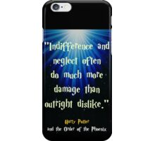 Indifference and Neglect iPhone Case/Skin