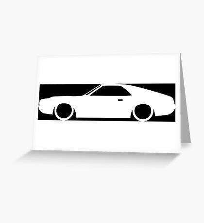 Lowered car for AMC AMX Enthusiasts Greeting Card