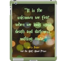 The Unknown We Fear iPad Case/Skin