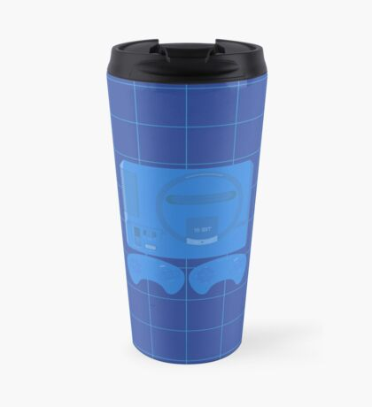 Megadrive Neon single (blue) Travel Mug