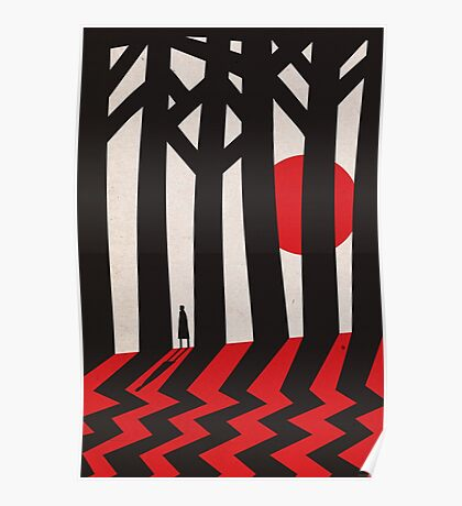 Twin Peaks, Black Lodge Forest Poster