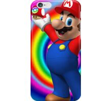 Mario on shrooms iPhone Case/Skin