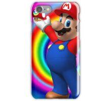 Mario on shrooms iPhone Case/Skin