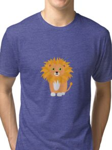 Lion with green eyes Tri-blend T-Shirt