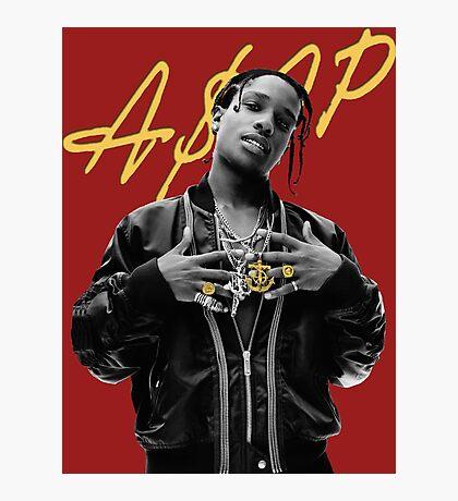 A$AP Rocky Gold Signature Photographic Print