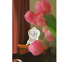 still  life ... with a clock  Photographic Print