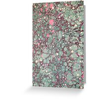 Marbling Greeting Card