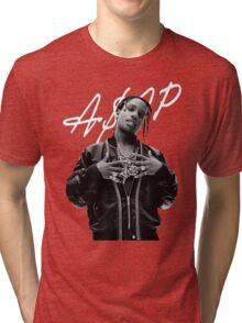 A$AP Rocky White Signature Tri-blend T-Shirt