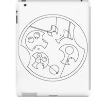 """I Don't Shave For Sherlock Holmes"" Circular Gallifreyan-Black iPad Case/Skin"