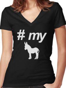 Pound My Donkey Women's Fitted V-Neck T-Shirt