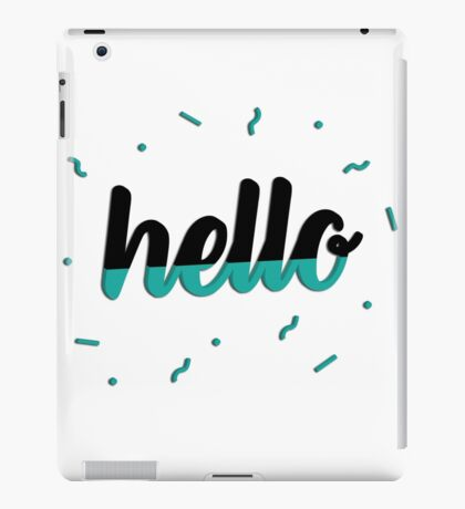 Hello - Teal iPad Case/Skin