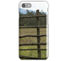 Wood Fence in a Pasture iPhone Case/Skin