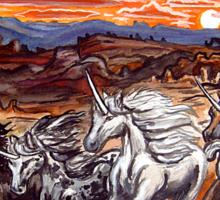 the unicorns of voran's canyon Sticker
