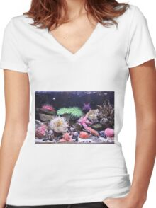 Our Colourful Underwater World Women's Fitted V-Neck T-Shirt
