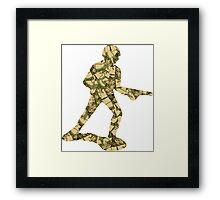 Queenouflage Army Man Original Framed Print