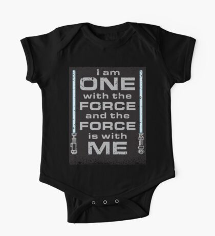 Force is with Me - Black&Blue One Piece - Short Sleeve