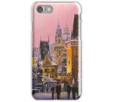 Prague Charles Bridge  Winter Evening iPhone Case/Skin