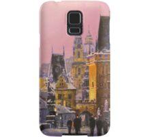 Prague Charles Bridge  Winter Evening Samsung Galaxy Case/Skin