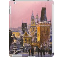 Prague Charles Bridge  Winter Evening iPad Case/Skin
