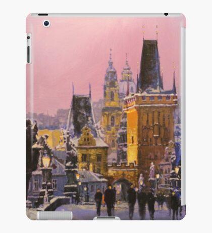 Prague Charles Bridge  Winter Evening iPad Case/Skin