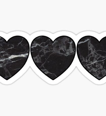 black marble hearts Sticker