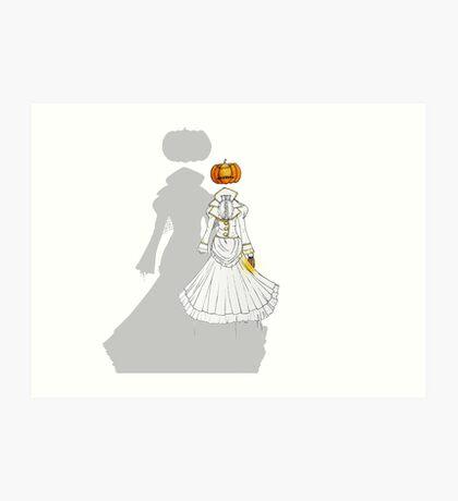 Jack-o'-Lantern (Ghost version) Art Print
