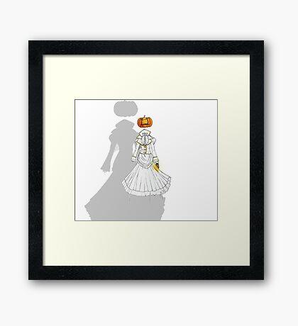 Jack-o'-Lantern (Ghost version) Framed Print