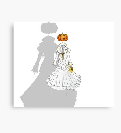 Jack-o'-Lantern (Ghost version) Canvas Print