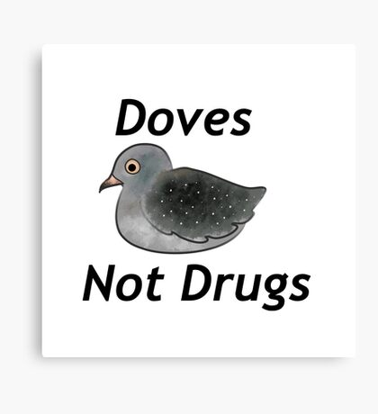 Diamond Doves Not Drugs Canvas Print