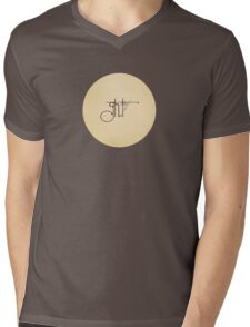 Ghost Story: Haunted Typography Mens V-Neck T-Shirt