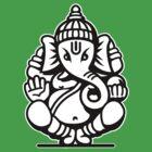 Ganesh Ganesa Ganapati 4 (2 colors) by MysticIsland