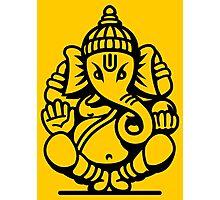 Ganesh Ganesa Ganapati 4 (black outline) Photographic Print