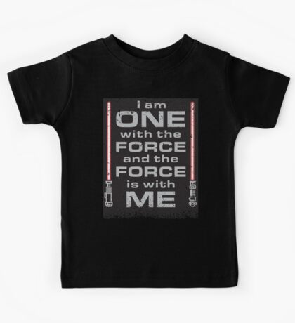 Force is with Me - Black&Red Kids Tee