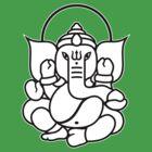 Ganesh Ganesa Ganapati 3 (2 colors) by MysticIsland