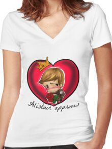 alistair approves Women's Fitted V-Neck T-Shirt