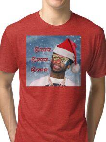 Gucci Mane Brrr Brrr Brrr Snow Santa- Christmas Tri-blend T-Shirt