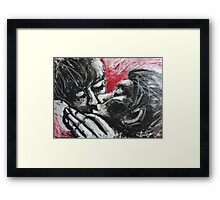 Lovers - Her Kiss Framed Print