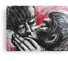 Lovers - Her Kiss Canvas Print