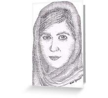 Malala Yousafzai Greeting Card