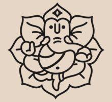 Ganesh Ganesa Ganapati 2 (black outline) T-Shirt
